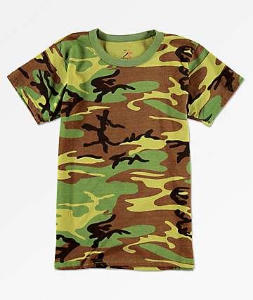 Rothco Woodland camiseta de camuflaje para niños