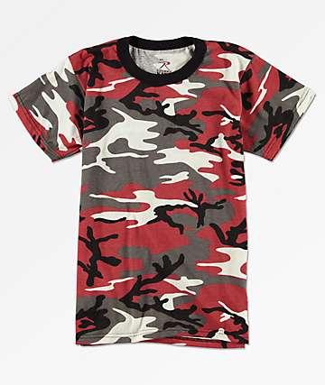 Rothco camiseta de camuflaje rojo para niños