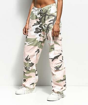 Rothco pantalones de camuflaje rosa y verde