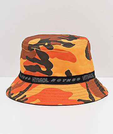 Rothco x Vitriol Orange Camo Reversible Bucket Hat 429263fc545