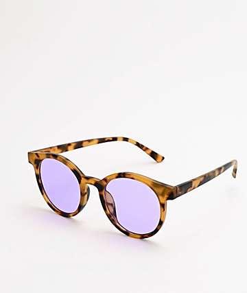 Round Brown Tort Sunglasses