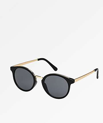 Rounds Black & Gold Sunglasses