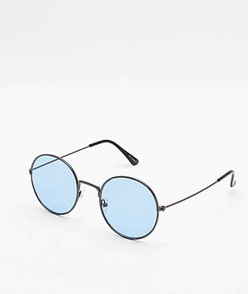 Rounds Blue Sunglasses