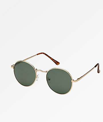 Rounds Gold Sunglasses