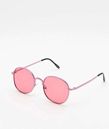 Rounds Red Sunglasses