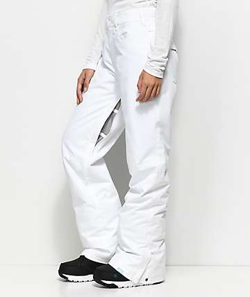 Roxy Backyard White 10K Snowboard Pants