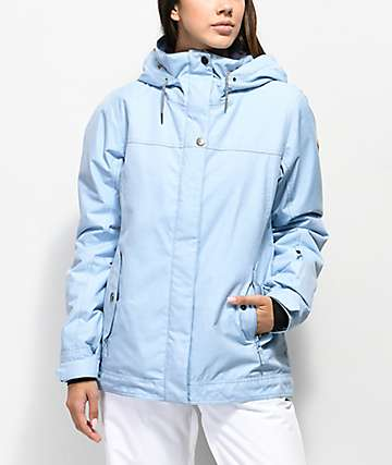 Roxy Billie 10K chaqueta de snowboard azul claro