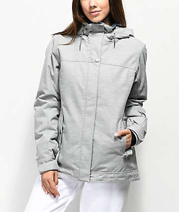 5f5959f339 Roxy Billie Heather Grey 10K Snowboard Jacket