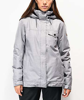 Roxy Billie Heather Light Grey 10K Snowboard Jacket
