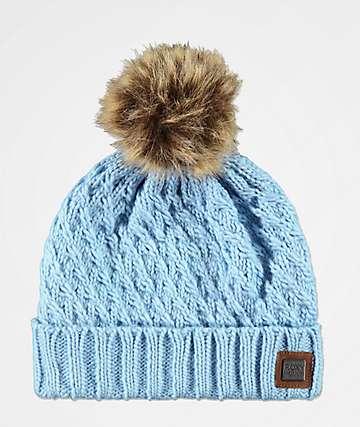 Roxy Blizzard gorro azul claro con pompón 885165a09f3