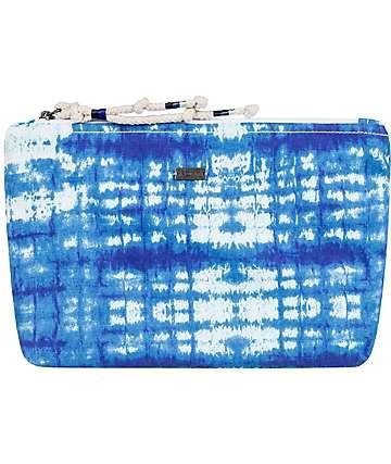 Roxy Bye Bye Baby Blue Tie Dye Cosmetic Bag