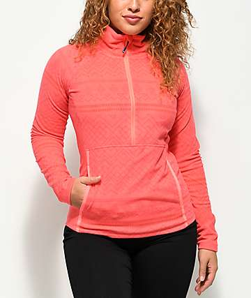 Roxy Cascade Tech Fleece Neon Grapefruit Anorak