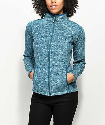 Roxy Harmony Ink Blue Zip Up Tech Fleece