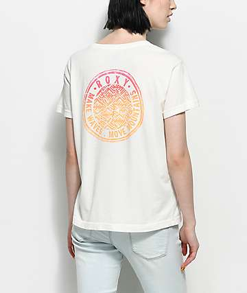 Roxy Hurricane Off White T-Shirt