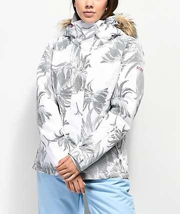 Roxy Jet Ski Swell 10K chaqueta de snowboard blanca