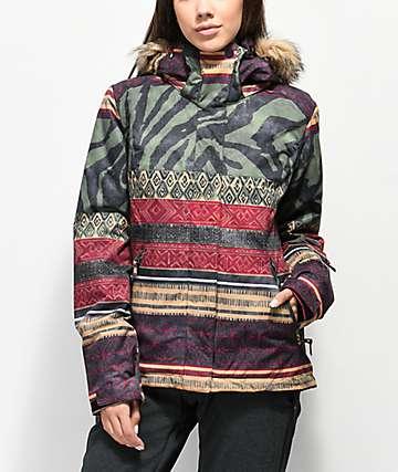 Roxy Jet Ski Wild Ethnic 10K Snowboard Jacket