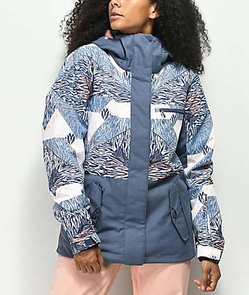 Roxy Jetty Block Animal Geo 10K chaqueta de snowboard