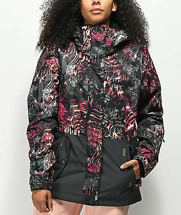 Roxy Jetty Block Zebratree Snowboard Jacket