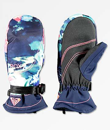 Roxy Jetty Neon Grapefruit Snowboard Mittens