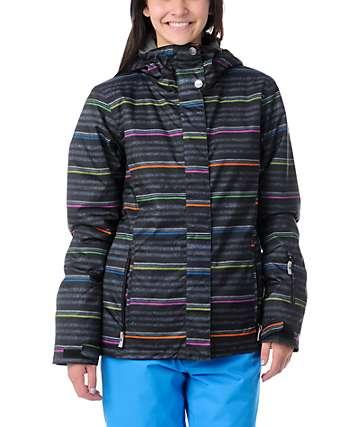 Roxy Jetty Neon Stripe 8K Insulated Snowboard Jacket 2f303d5b9