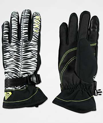 Roxy Jetty Savanna Black Snowboard Gloves