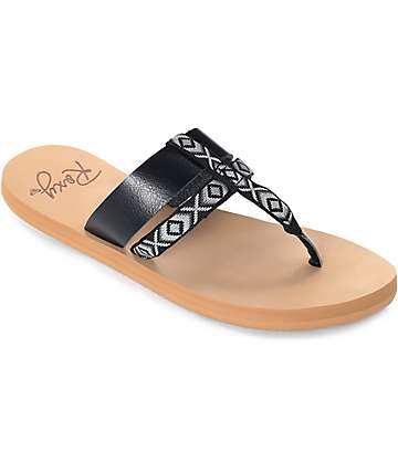 Roxy Kahula Black Sandals