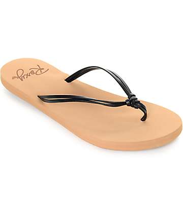 Roxy Lahaina Black Sandals