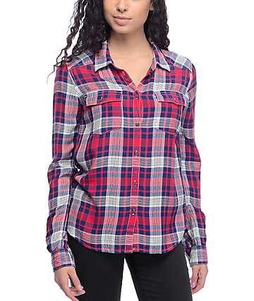Roxy Plaid On You Long Sleeve Shirt