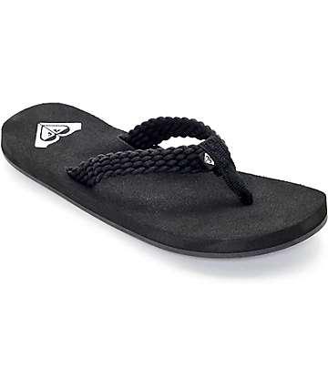 Roxy Porto Black Sandals
