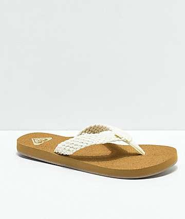 Roxy Porto Cream Sandals