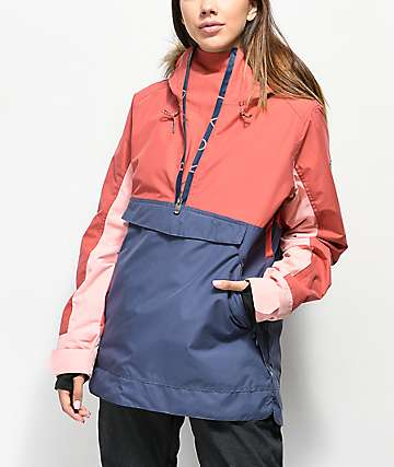 Roxy Shelter Dusty Cedar Anorak 10K Snowboard Jacket