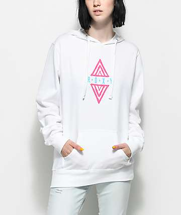 Roxy Tribal Diamond White Hoodie