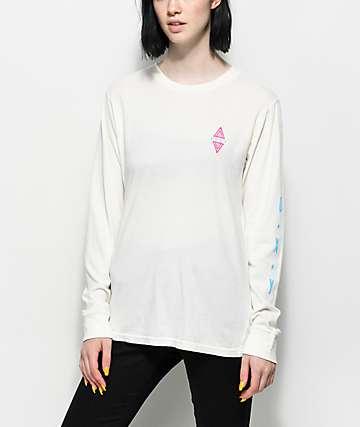 Roxy Tribal Diamond camiseta blanca de manga larga