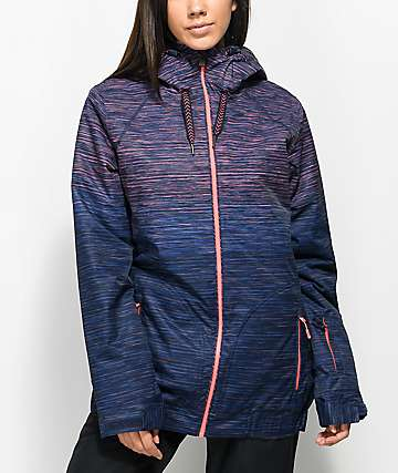 Roxy Valley Neon Grapefruit Space Dye 10K Snowboard Jacket
