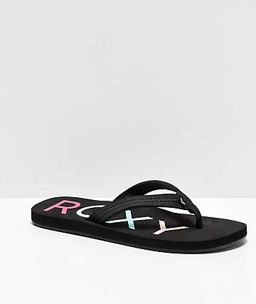 Roxy Vista II Black Sandals