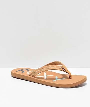 89dbe24d7 Roxy Vista II Tan Sandals
