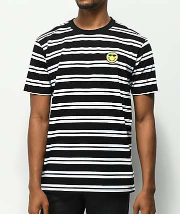 Roy Purdy Black & White Stripe T-Shirt