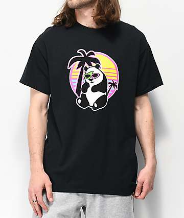 Roy Purdy Panda Black T-Shirt