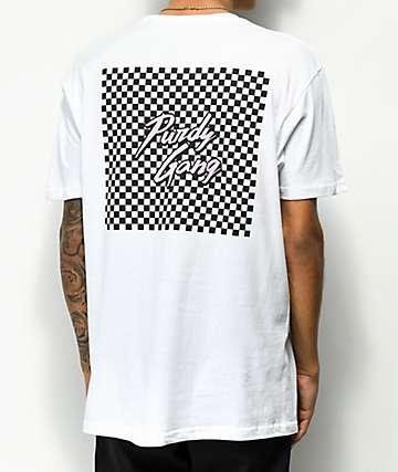 Roy Purdy Purdy Gang Check White T-Shirt