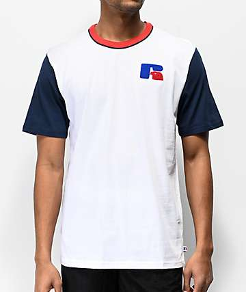 Russel Athletic Brewton White & Blue T-Shirt