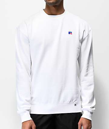 Russell Athletic Frank White Crew Neck Sweatshirt