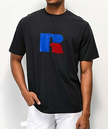Russell Athletic Jerry Flock Black T-Shirt