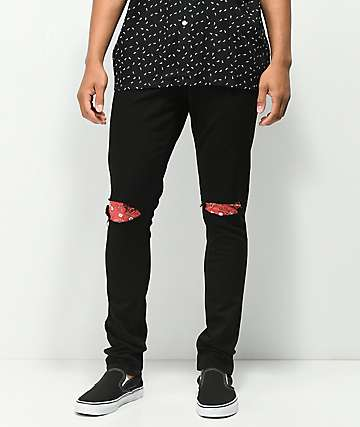 Rustic Dime Bandana Patch Black Jeans