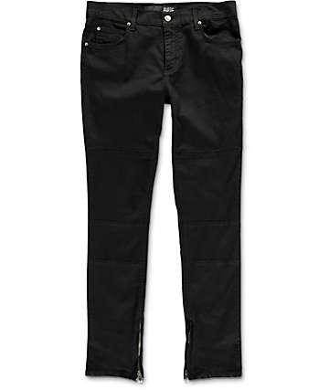 Rustic Dime Enduro Moto jeans negros con cremalleras