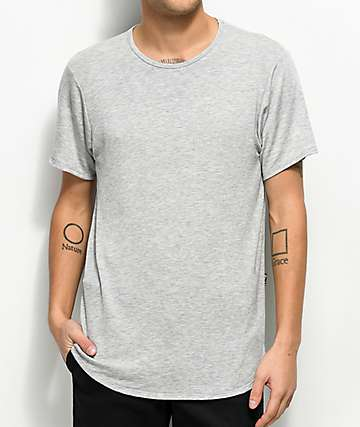 Rustic Dime Heather Grey Elongated T-Shirt