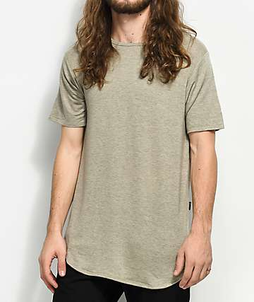 Rustic Dime Heather Sand Elongated T-Shirt