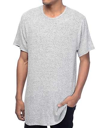 Rustic Dime Heather camiseta alargada en blanco y negro