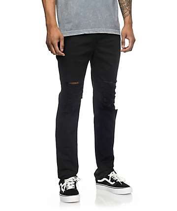 Rustic Dime Krueger jeans rotos en negro