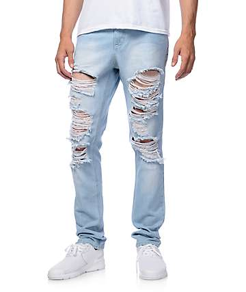 Rustic Dime Saint Vernon Shred Taper Jeans
