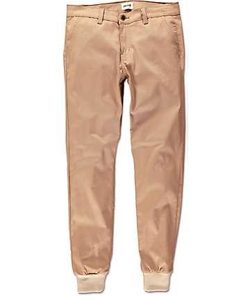 Rustic Dime Sunset Tan Twill Jogger Pants